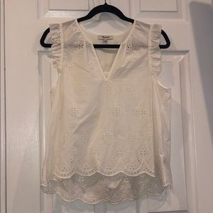 Never worn Madewell lace blouse